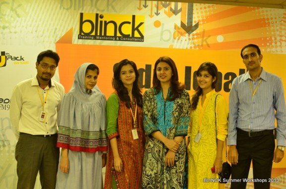 Team Blinck with woman behind it all, Sidra Iqbal