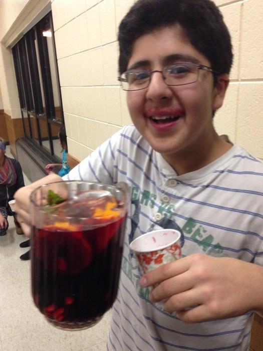 Saul's homegrown and homemade beet juice