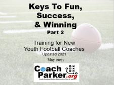 Keys to Youth Football Success Coaching Podcast Part 2