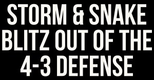 4-3 Defense Blitz Package With Man Free Coverage