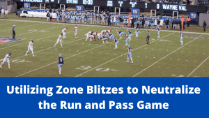 Utilizing Zone Blitzes to Neutralize the Run and Pass Game