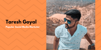 Taresh Goyal, Most popular social media marketer