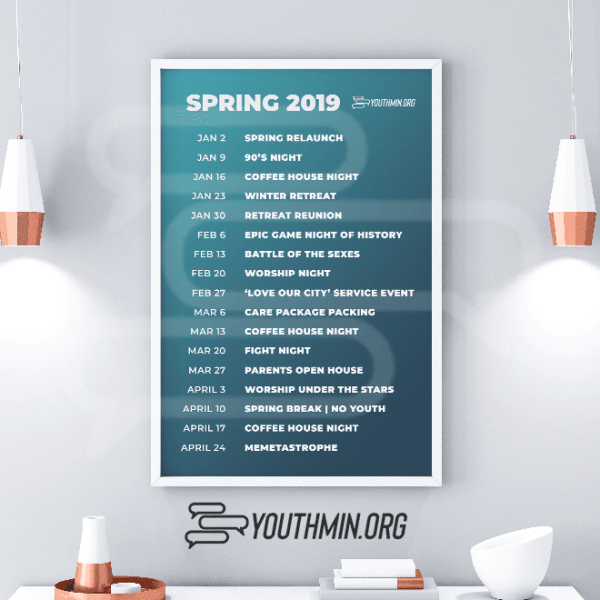 youth ministry calendar template download