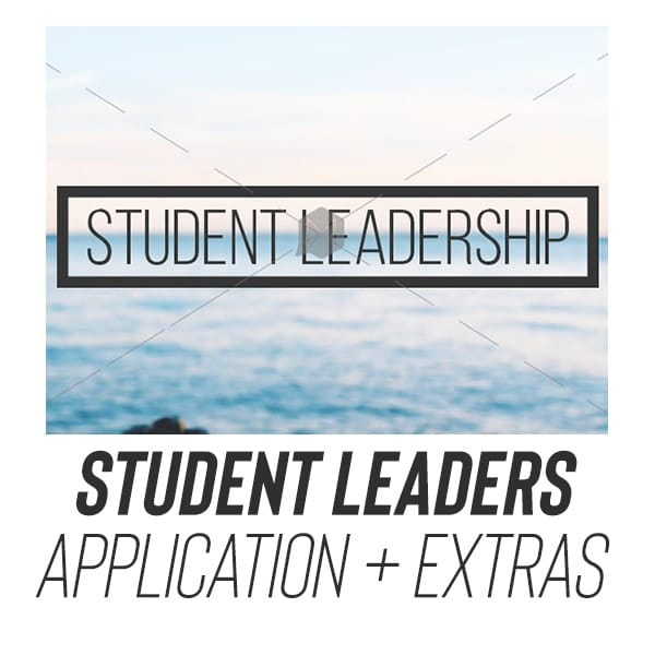 youth group student leader application