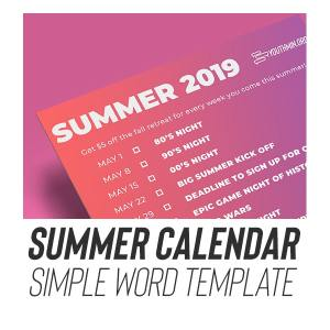 download youth ministry calendar editable