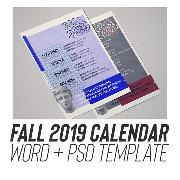youth ministry calendar editable downloadable