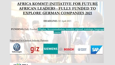 Photo of AFRICA KOMMT! INITIATIVE FOR FUTURE AFRICAN LEADERS – FULLY FUNDED TO EXPLORE GERMAN COMPANIES 2021