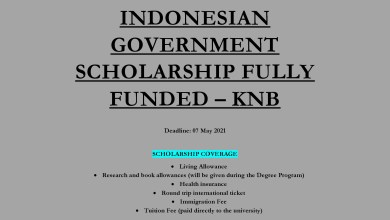Photo of INDONESIAN GOVERNMENT SCHOLARSHIP FULLY FUNDED – KNB
