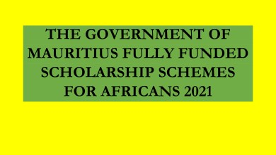 Photo of THE GOVERNMENT OF MAURITIUS FULLY FUNDED SCHOLARSHIP SCHEMES FOR AFRICANS 2021
