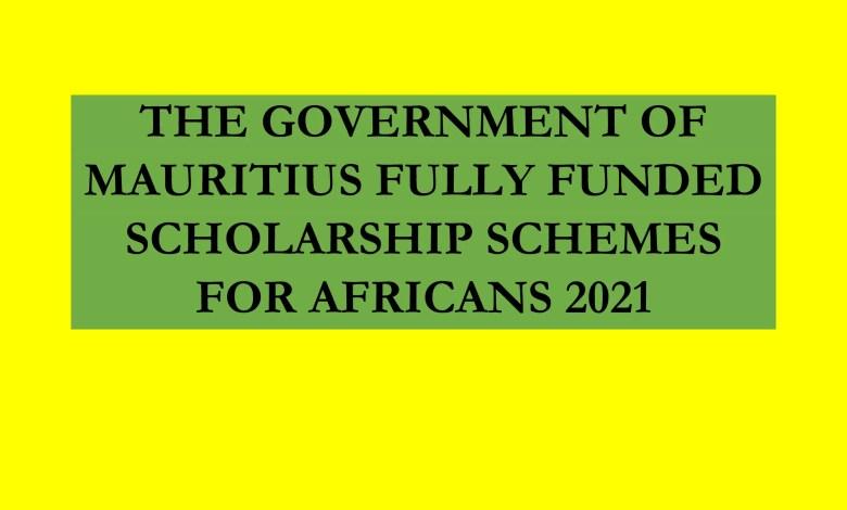 Mauritius fully funded scholarship