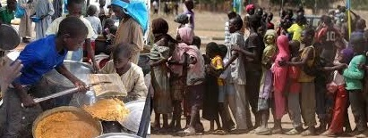 People facing food starvation/famine in northeast Nigeria