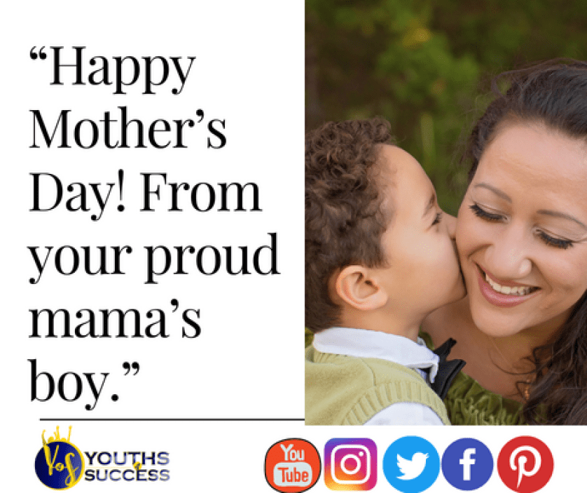 Mother's day quotes from son to mom