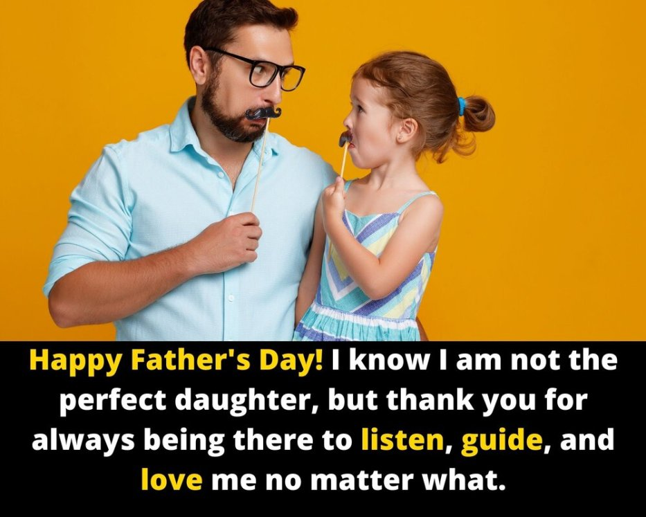 Happy fathers day message from daughter to dad
