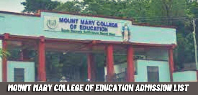 mount mary college of education admission list