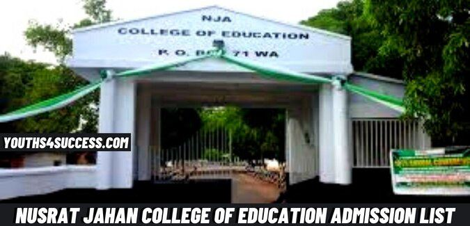 Nusrat Jahan College Of Education Admission List
