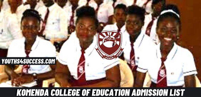 Komenda College Of Education Admission List