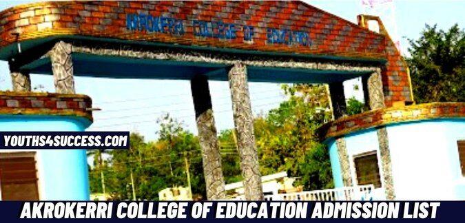 Akrokerri College Of Education Admission List