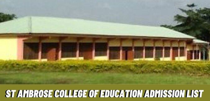 St Ambrose College of Education Admission List