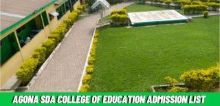 Agona SDA College of Education Admission List