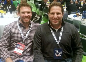 Jim Miller, YSF President & Co-Founder sits with former Green Beret and current NFL long snapper Nate Boyer at the 2016 USA Football Conference in Indianapolis.