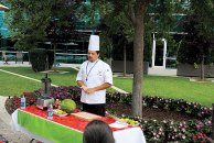 The Healthways Café chef teaches youth from group homes different and healthy ways to make salsas and smoothies.