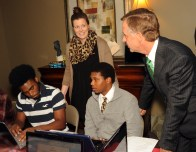 Governor Haslam speaks with youth participating in Youth Villages transitional living program