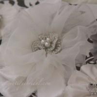 Delicate Handmade Flowers for a Custom Sash