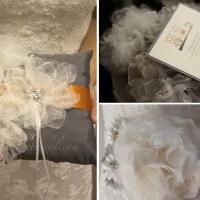 Custom Bridal Sash & Ring Bearer Pillow {Dr. JV}