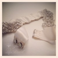 """Bridal Sash Restyle - """"Tie"""" Sash into a """"Hook&Eye"""" Closure"""