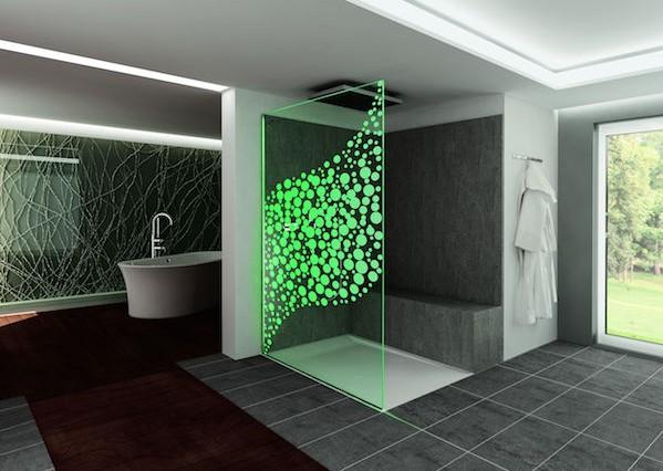 Dlight air: nuova parete a led per box doccia