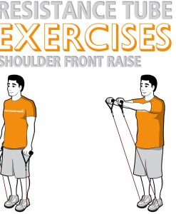 Resistance Tube Shoulder Front Raise