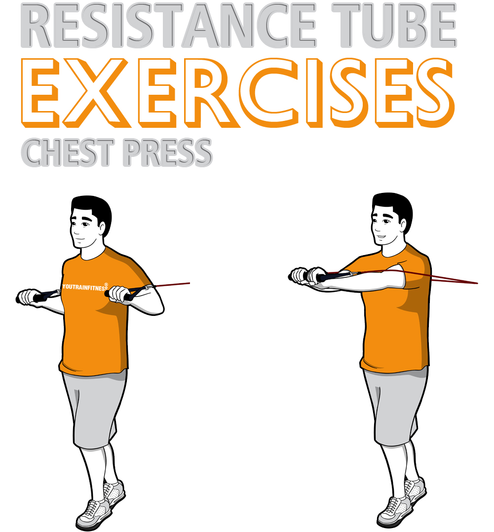 resistance-band-standing-chest-press