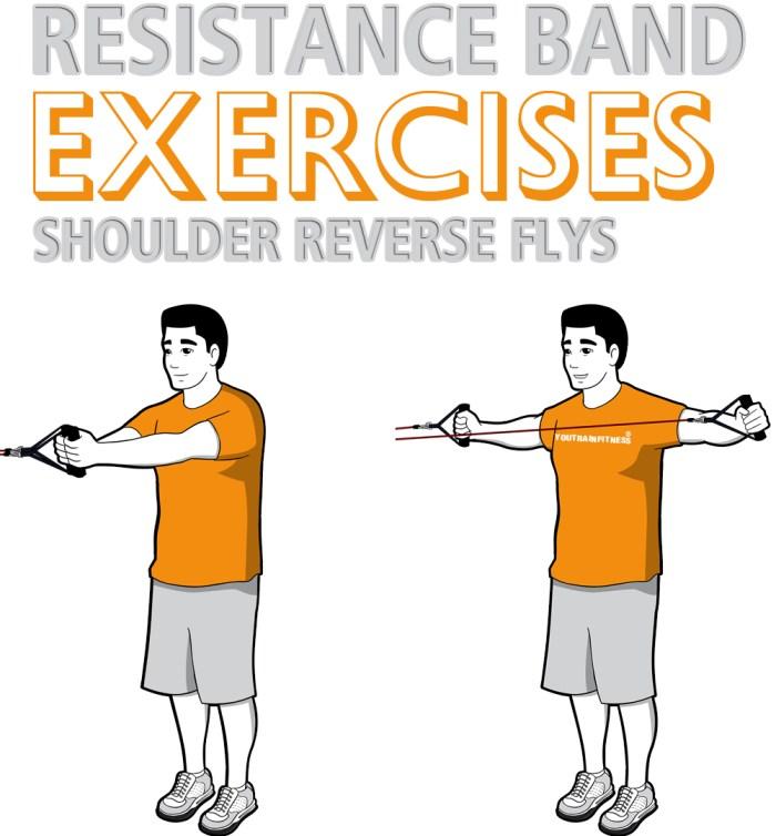 Resistance Band Shoulder Reverse Flys
