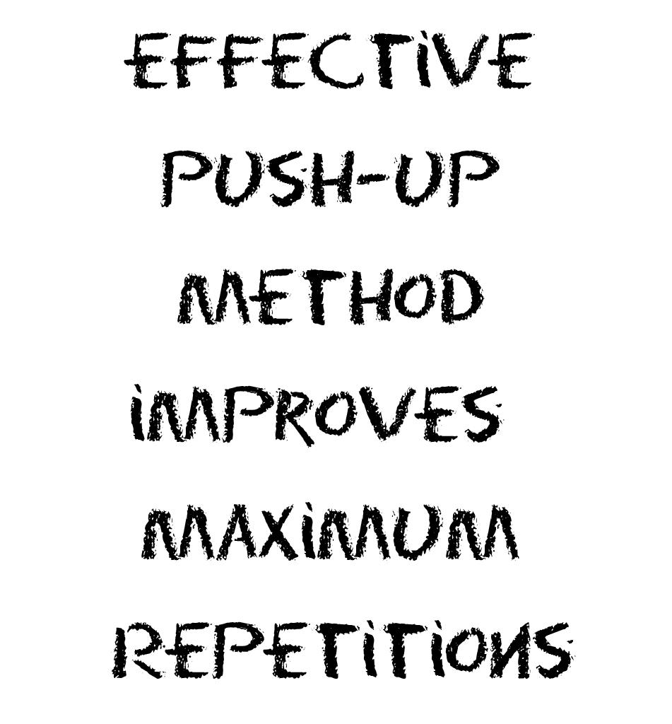 Effective Push-up Method Improves Maximum Repetitions