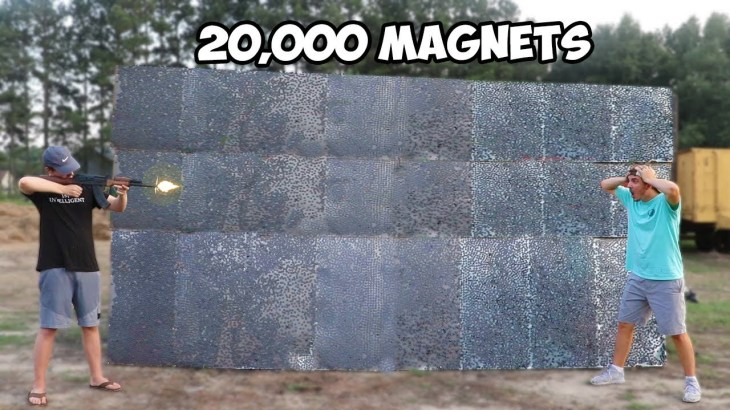 Can 20,000 Magnets Catch A Bullet Mid Air?