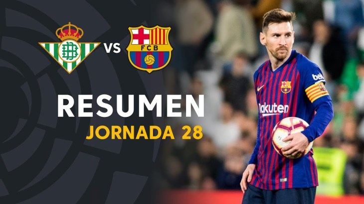 Resumen de Real Betis vs FC Barcelona (1-4)