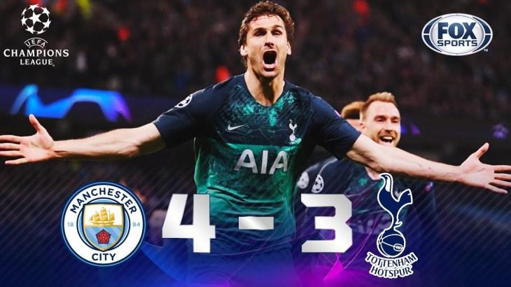 Manchester City – Tottenham [4-3] | GOLES | Cuartos de final (VUELTA) | UEFA Champions League
