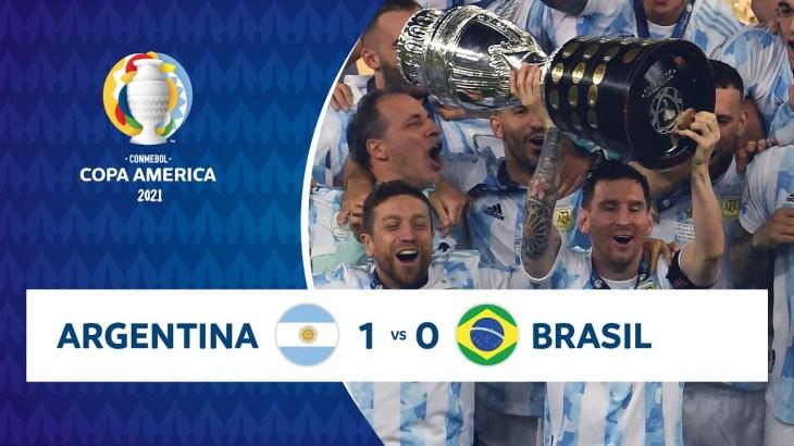 HIGHLIGHTS ARGENTINA 1 – 0 BRASIL   COPA AMÉRICA 2021   10-07-21