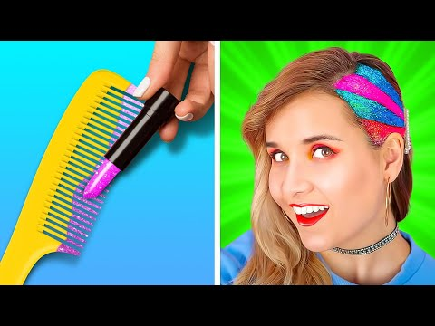 COOL HAIR HACKS AND TIPS    Long vs Short Hair Problems And Relatable Situations by 123 Go! GENIUS