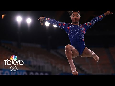 Simone Biles flies right off floor surface during qualifying routine   Tokyo Olympics   NBC Sports