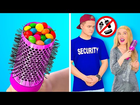 HOW TO SNEAK FOOD ANYWHERE || Cool Food Hacks, Pranks and Tricks by 123 GO!