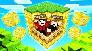 BLOQUE INFINITO DE LUCKY BLOCKS CON PLECH! 🤣😱 | Minecraft
