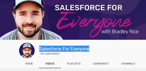 5 Best SalesForce Youtube Channel