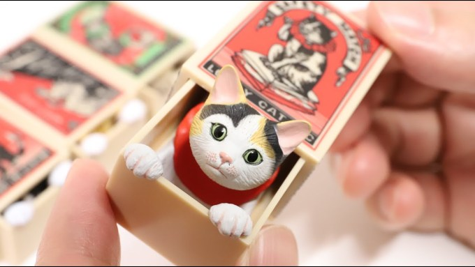 Cat in the Matchbox Gashapon Prize Japan Souvenir