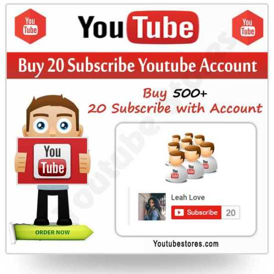 Buy Subscribe Youtube Account