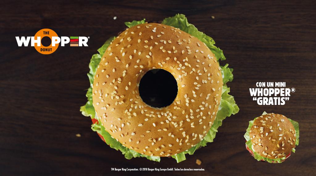Burger King nos propone disfrutar del donut a la parrilla