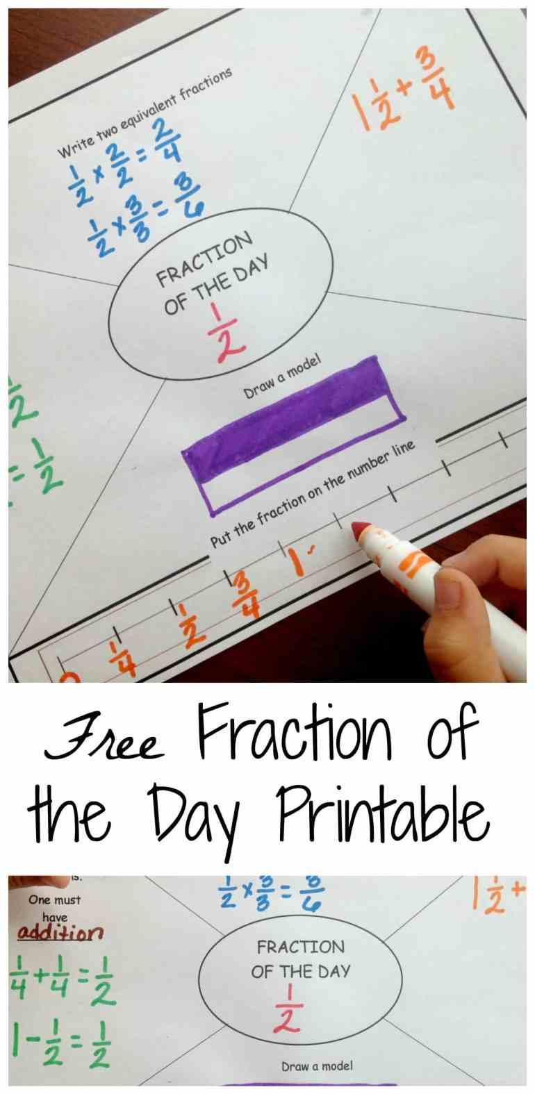 Fraction of the Day pinterest