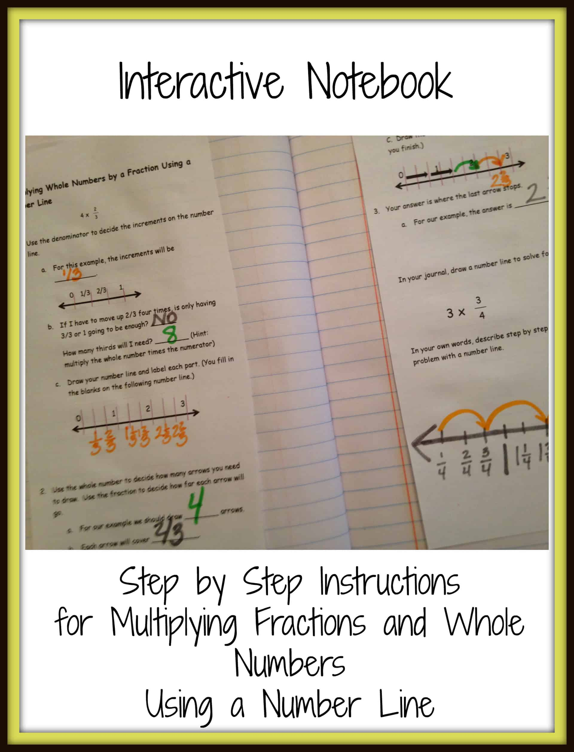 Multiplying Fractions On A Number Line Game