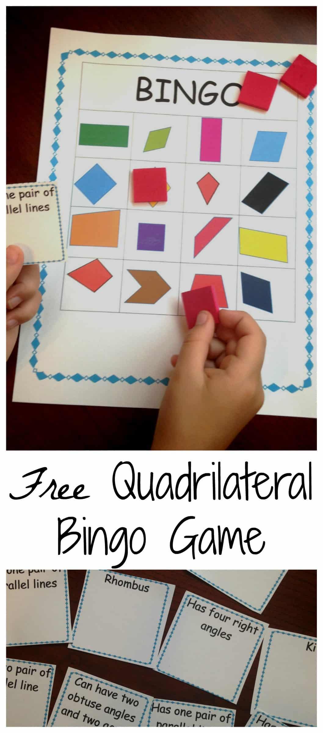 Quadrilateral game pinterest