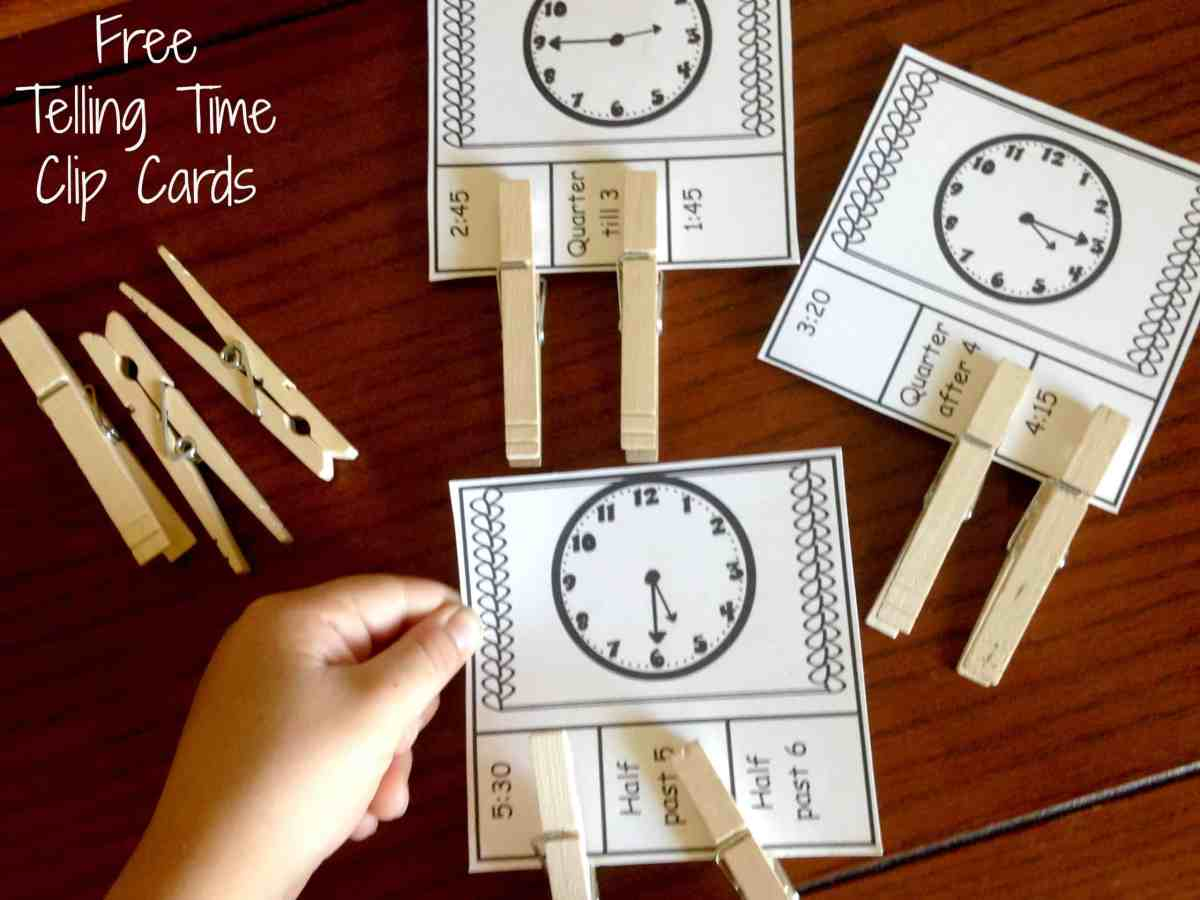 Four Ways To Practice Telling Time (Free Clip Cards)